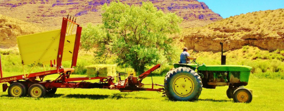 Tractor work at ranch.